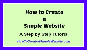 How to Create a Simple Website Tutorial1