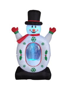 Inflatable Snowman Snow globe Christmas Decoration